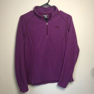 The North Face Purple Quarter Zip Pullover